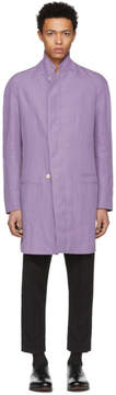 Haider Ackermann Purple Petalite Raglan Coat