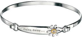 Ice Sterling Silver Diamond Daisy Flower Bangle Bracelet for Girls