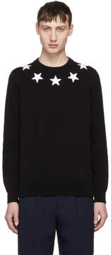 Givenchy Black and White Stars Sweater