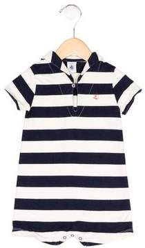 Petit Bateau Boys' Striped Short Sleeve All-In-One