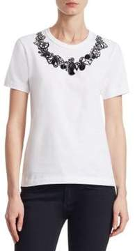 Comme des Garcons Cotton Jersey Printed Pattern Tee