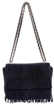 Tory Burch Fringe-Trimmed Crossbody Bag - BLUE - STYLE