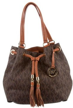 MICHAEL Michael Kors Monogram Bucket Bag - BROWN - STYLE