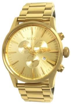 Nixon A386502 Sentry Chronograph All Gold Steel Watch