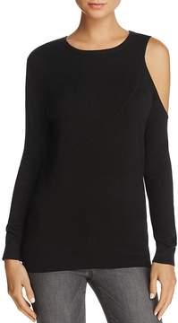 Aqua Asymmetric Cold-Shoulder Sweater - 100% Exclusive