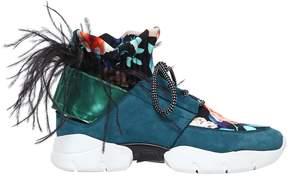 MSGM 40mm Suede & Neoprene Sneakers