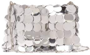 Paco Rabanne Sequin Covered Leather Bag - Womens - Silver