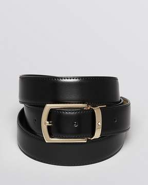 Montblanc Classic Line Rectangular Curved Buckle Reversible Belt