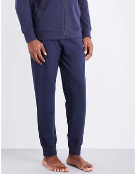 Hanro Solid cotton-jersey jogging bottoms