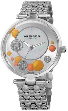 Akribos XXIV Akribos Mother of Pearl Dial Silver-Tone Diamond Ladies Watch