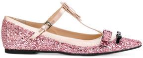 No.21 glitter ballerinas