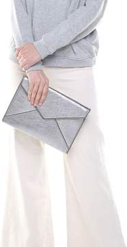 Rebecca Minkoff Leo Metallic-leather Clutch - ANTHRACITE - STYLE