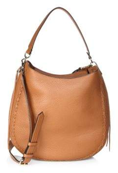 Rebecca Minkoff Unlined Convertible Leather Hobo Bag - ALMOND - STYLE