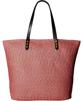 San Diego Hat Company - BSB1557 Tote Bag with Pop Color Lining and Interior Zippered Pocket and Metal Snap Closures Tote Handbags