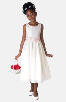 Sorbet Girl's Flower Satin Dress