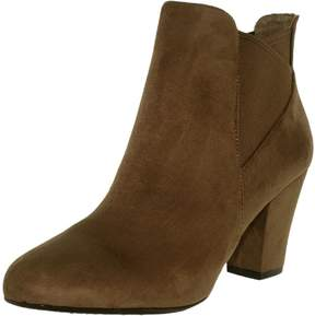 BCBGeneration Women's Dolan Suede Taupe/Taupe Ankle-High Synthetic Pump - 9.5M
