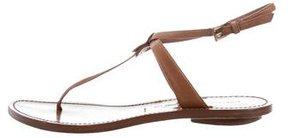 Sigerson Morrison Leather T-Strap Sandals