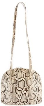 Carlos Falchi Snakeskin Dome Shoulder Bag