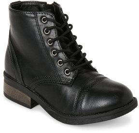 Steve Madden Kids Girls) Black J-RocknRoll Combat Boots