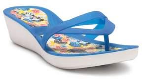 Crocs Isabella Print Wedge Flip Flop (Women)
