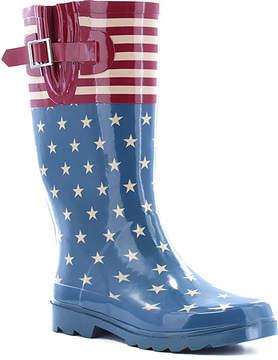 Western Chief Blue & Red Stars & Stripes Rain Boot - Women