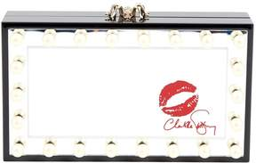 Charlotte Olympia Black Plastic Clutch Bag
