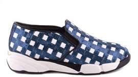 Pinko Women's Blue Fabric Slip On Sneakers.