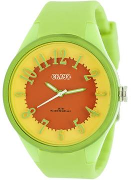 Crayo Burst Collection CRACR3202 Women's Watch with Silicone Strap