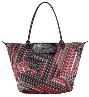 Longchamp Le Pliage Pop Art Large Shoulder Tote Bag - RED - STYLE