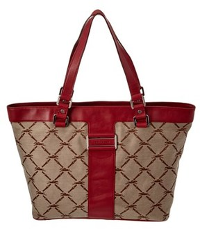 Longchamp Logo Jacquard & Leather Tote. - MULTIPLE COLORS - STYLE