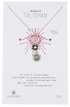 Dogeared Sterling Silver Compass Cluster Charm Necklace