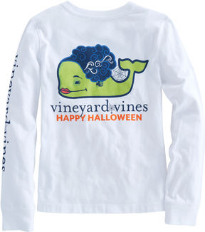Vineyard Vines Girls Long-Sleeve Bride Of Frankenstein Whale Pocket Tee