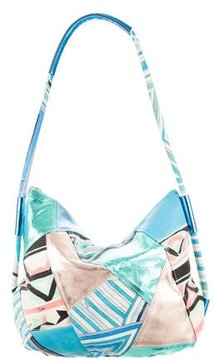 Emilio Pucci Leather & Canvas Hobo