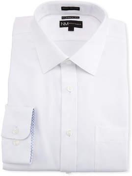 Neiman Marcus Classic-Fit Regular-Finish Check-Textured Dress Shirt