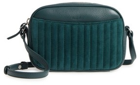Steven Alan Ayla Leather & Quilted Suede Camera Bag - Green
