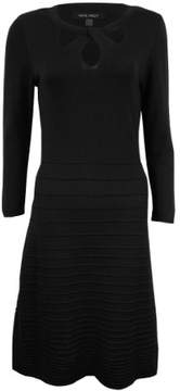 Nine West Women's Cutout Fit & Flare Sweater Dress