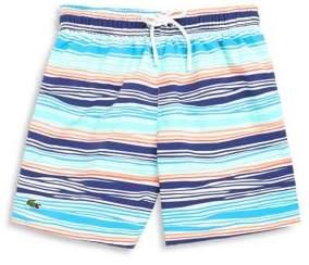 Lacoste Little Boy's Striped Swim Trunks