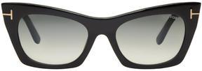 Tom Ford Black Kasia Cat-Eye Sunglasses