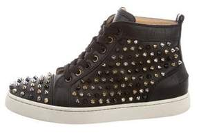 Christian Louboutin Spiked High-Top Sneakers
