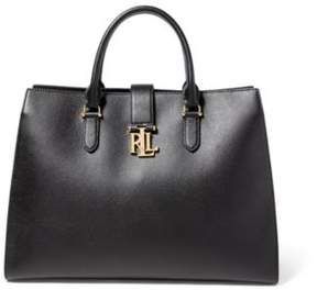 Ralph Lauren Pebbled Leather Brigitte Tote Black One Size