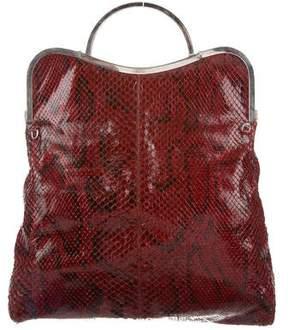Tod's Python Handle Bag