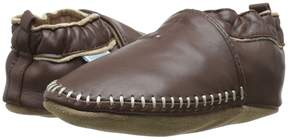 Robeez Premuim Leather Classic Moccasin Soft Sole Boys Shoes