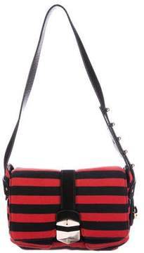 Sonia Rykiel Leather-Trimmed Shoulder Bag