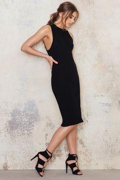 NA-KD Knitted Midi Dress