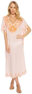 Echo Embroidered Maxi Caftan Women's Clothing