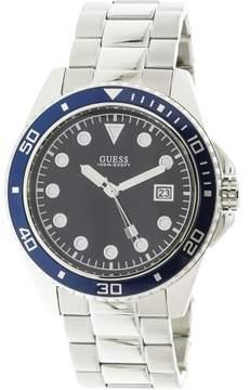 GUESS Men's U1002G1 Silver Stainless-Steel Japanese Quartz Sport Watch