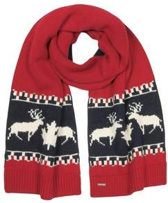 DSQUARED2 Men's Red Wool Scarf.