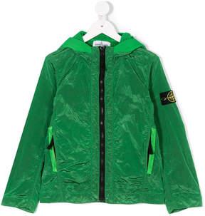 Stone Island Junior hooded zipped jacket
