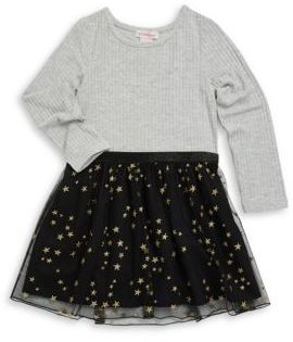 Design History Little Girl's Knit Ruffled Dress