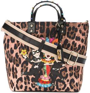 Dolce & Gabbana flamenco leopard print tote